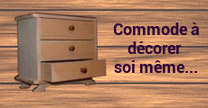 Commode en bois miniature à customizer