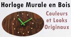 horloge design en bois