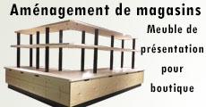 Meuble en bois pour boutique