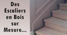 des escaliers en bois