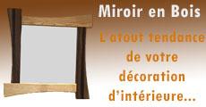 miroir en bois look et design