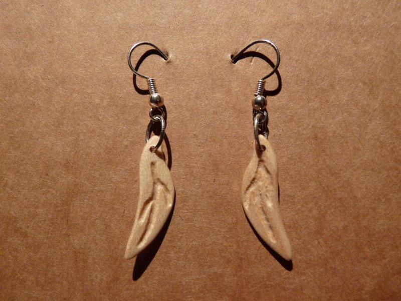 Boucles d oreille en érable  Feuillage - vue 1