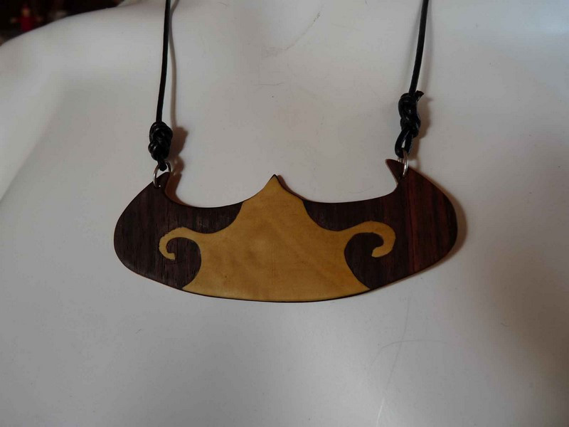 Collier ras du cou double-face - vue 1