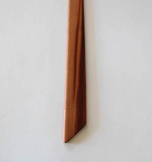 Cravate en bois de mirabellier - vue 2