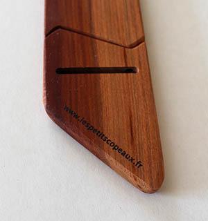 Cravate en bois de mirabellier - vue 3