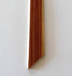 Cravate en bois plaquée de Bois de Rose - vue 2