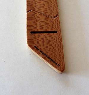 Cravate en bois plaquée de Bois de Rose - vue 3