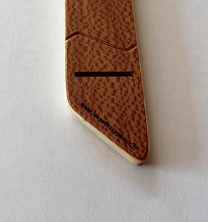 Cravate en bois plaquée d ébne de Macassar - vue 3