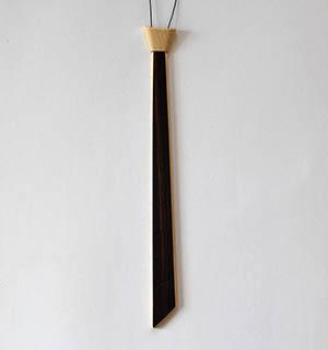 Cravate en bois plaquée d ébne de Macassar - vue 4