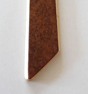 Cravate en bois plaquée de loupe de Tuya - vue 2
