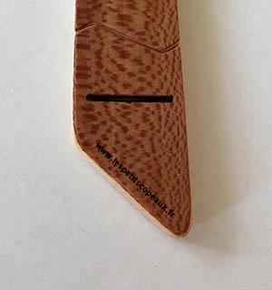 Cravate en bois plaquée de loupe de Tuya - vue 3