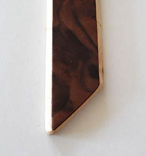 Cravate plaquée de Noyer ramageux - vue 2