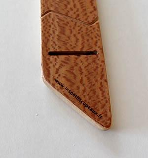 Cravate plaquée de Noyer ramageux - vue 3