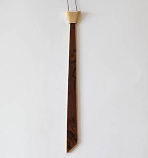 Cravate plaquée de Noyer ramageux - vue 4