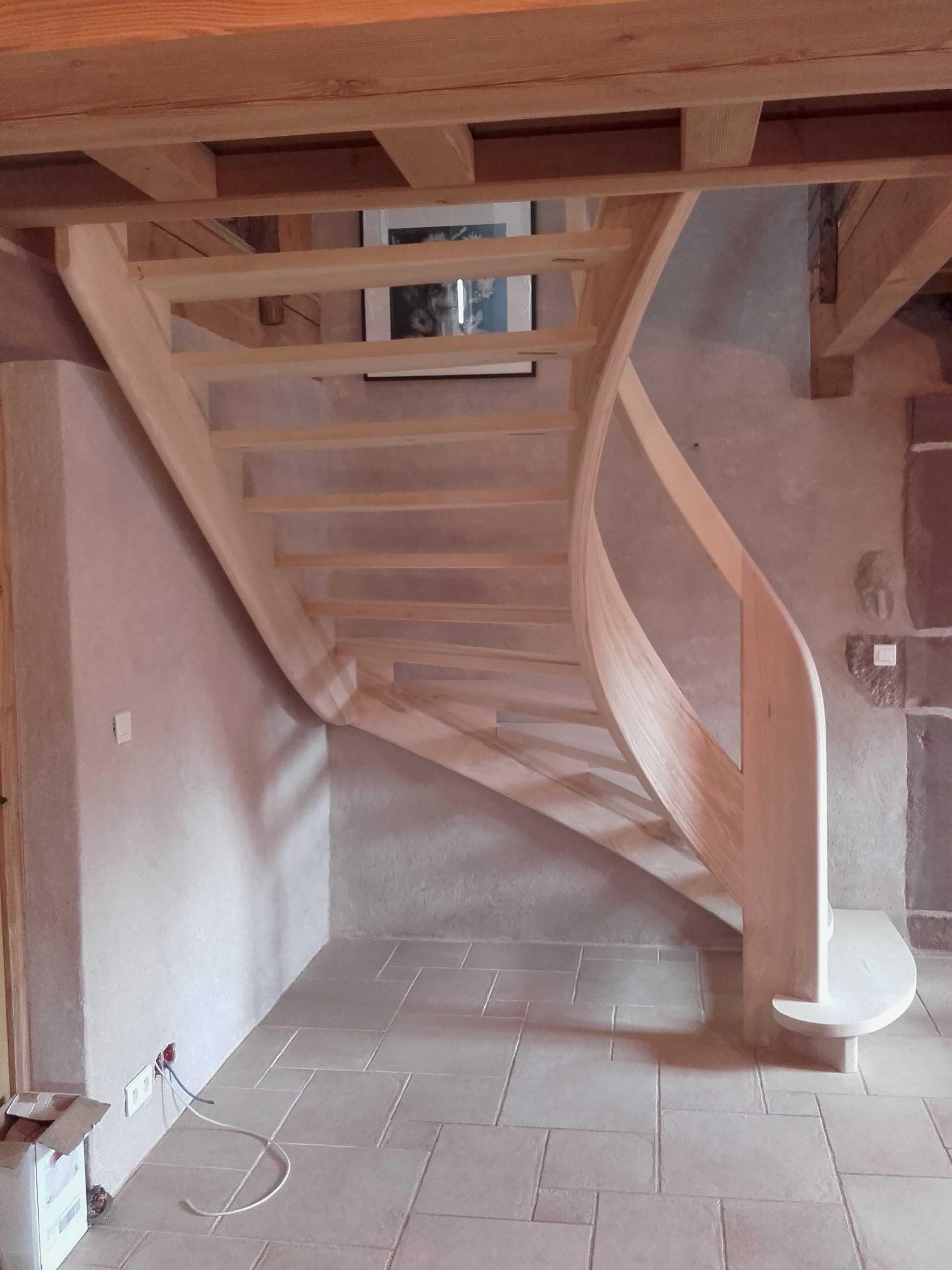 Escalier en lamellé collé - vue 3