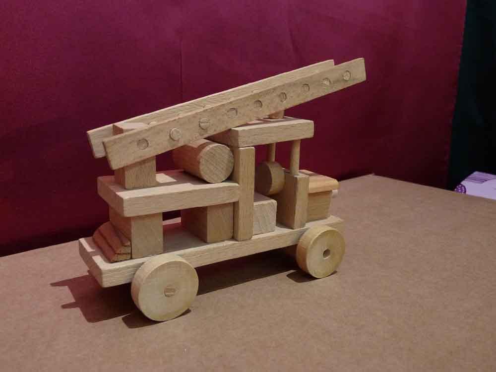 Jeux De Camion De Bois - Camion de pompier en bois