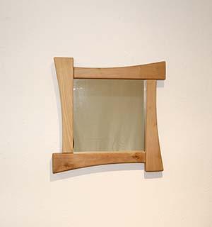 Miroir carré en alisier - vue 2