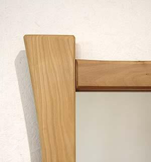 Miroir carré en alisier - vue 3