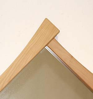 Miroir carré en alisier - vue 4