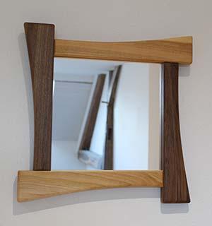 Miroir en Merisier et en Noyer - vue 1