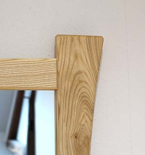 Miroir carré design en frene  - vue 2