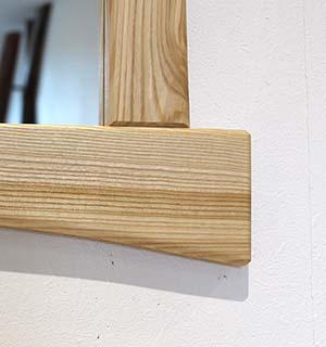Miroir carré design en frene  - vue 3