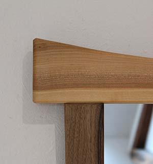 Miroir carré design en Merisier & Noyer - vue 2