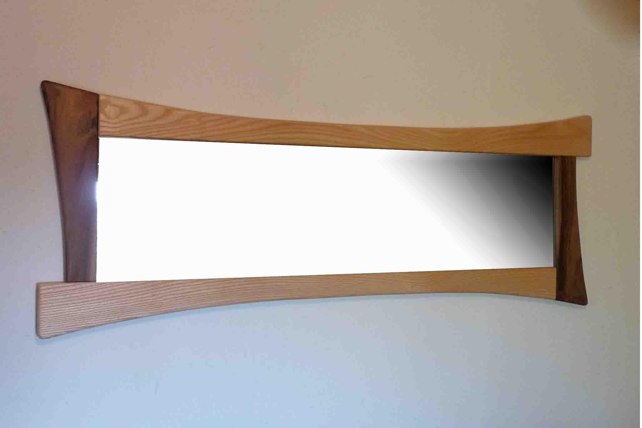 Miroir en bois plein pied - vue 1