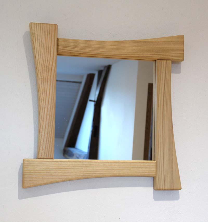Miroir en frêne - vue 1