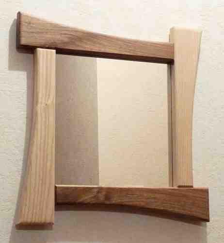 Miroir carré en bois