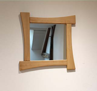 Miroir en alisier de 60 x 60