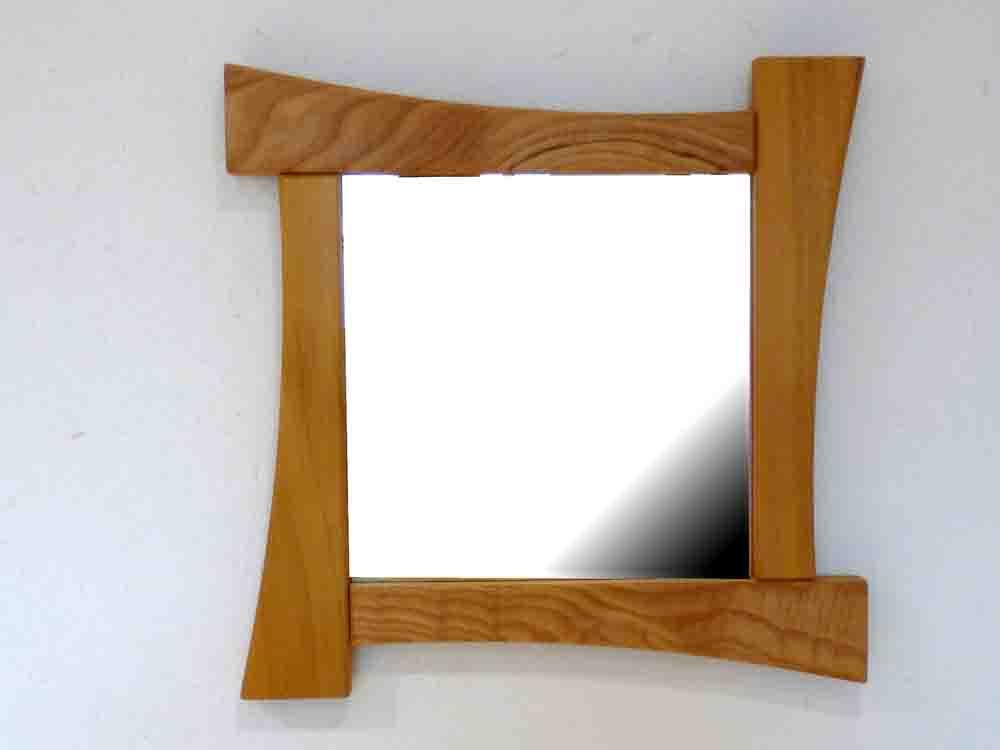 Miroir en Acacia et Châtaigner - vue 1