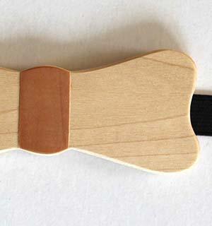 Noeud papillon en bois, essence d'érable - vue 3