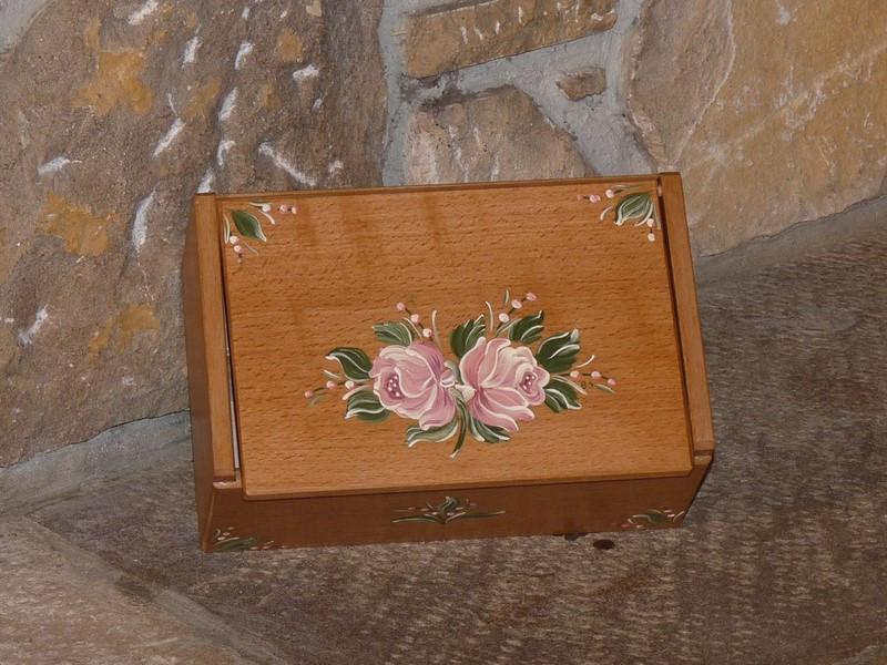 Boîte à thés ou tisanes Fleurs rétro roses - vue 1