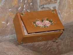 Boîte à thés ou tisanes Fleurs rétro roses - vue 2