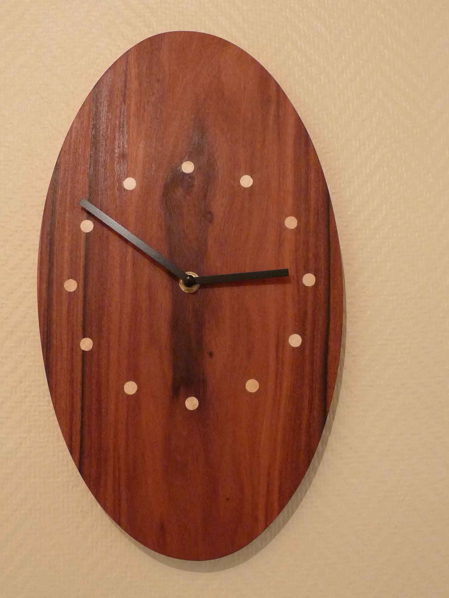 Pendule ovale en palissandre - vue 2