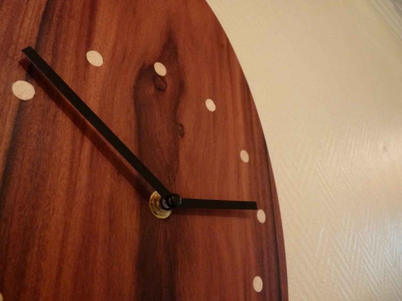 Horloge Desgin Bois Palissandre - vue 1