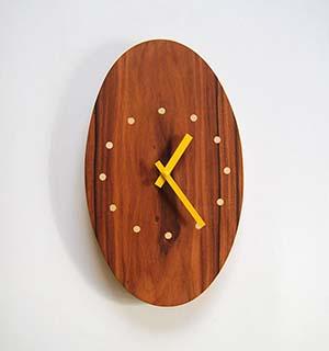 Horloge Murale Bois en palissandre