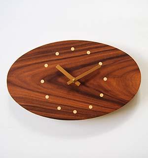 Horloge Murale Bois en palissandre - vue 2
