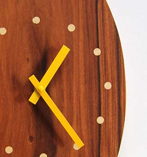 Horloge Murale Bois en palissandre - vue 3