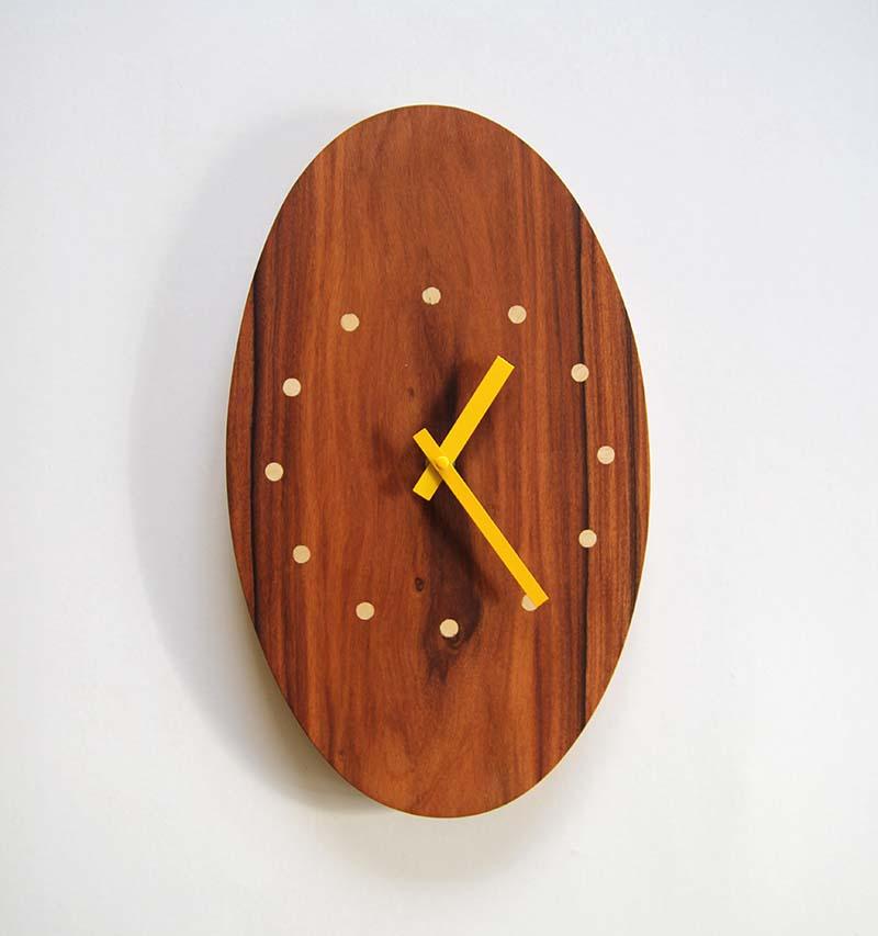 Horloge Murale Bois en palissandre - vue 1