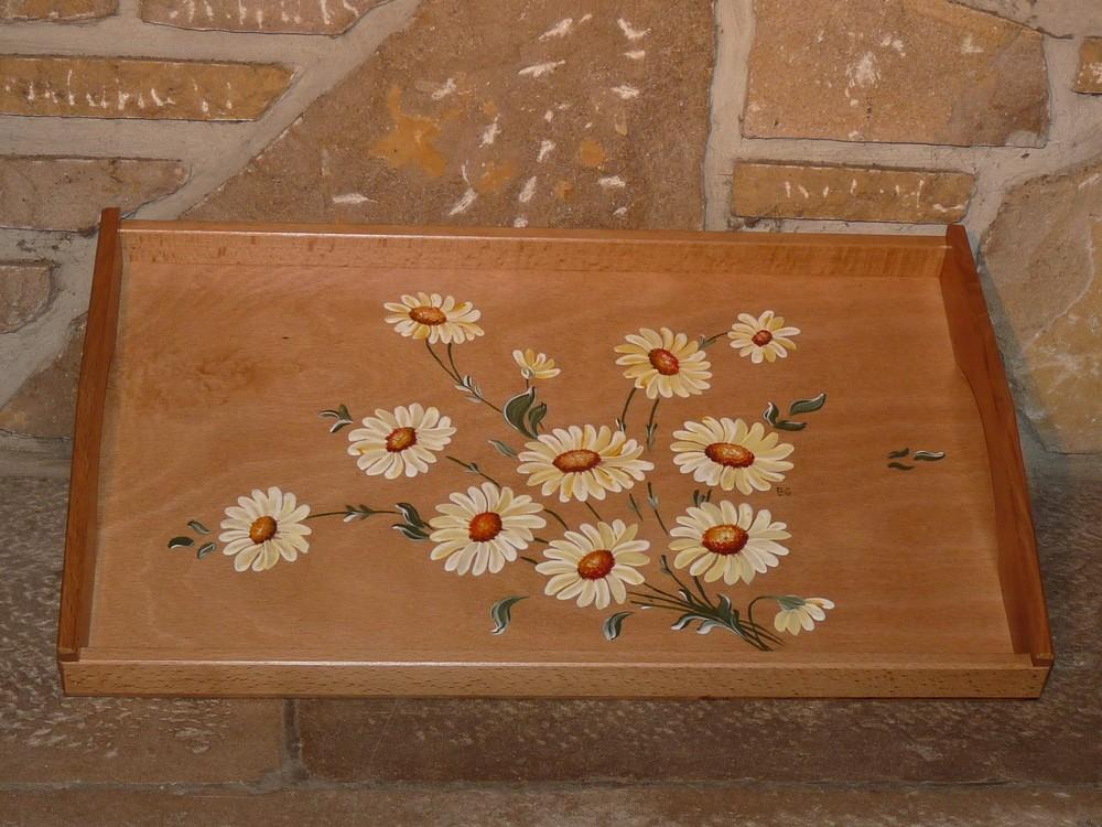 Plateau Marguerites blanches