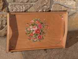 Plateau Bouquet rond rouge - vue 1