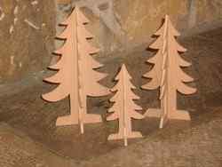 Sapins miniatures - vue 1