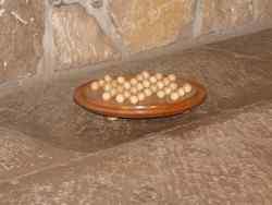 Solitaire circulaire avec billes en bois - vue 2